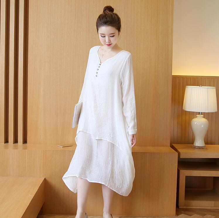 BAHEMAMI Chiffon Maternity Dress 2017 spring Long Sleeve Large Size Clothes for Pregnant Women Clothing for Pregnancy