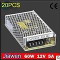 60 W 5A fonte de alimentação para fita led, 220 V ac, De 12 V