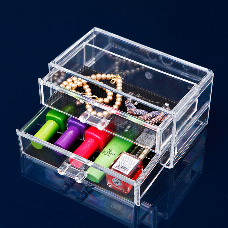 1Pcs Transparent <font><b>Acrylic</b></font> Storage <font><b>Drawer</b></font> Makeup <font><b>Organizer</b></font> Jewelry Cosmetic Storage Box Home Sundries Storage Holders image