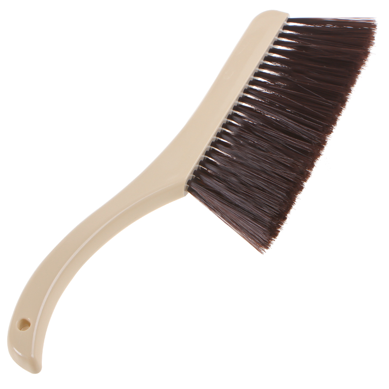 US $5 99 40% OFF|BF040 Home Bed sweeping brush broom sweeping bedroom  carpet cleaning fur bristles long handle plastic cleaning brush  38cm*10cm-in