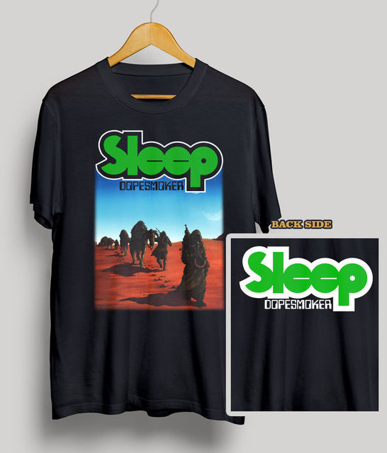 US $14 99 |SLEEP DOPESMOKER CD COVER T SHIRT DOOM METAL STONER BLACK  SABBATH Size S 3XL 100% Cotton T Shirts Brand Clothing Tops Tees-in  T-Shirts from