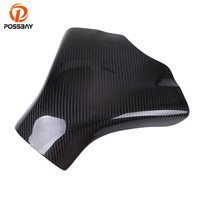 POSSBAY Motorcycle Gas Tank Pad Cover Carbon Fiber for Suzuki GSXR 600 750 2008 2009 2010 K8 Gastank Protector