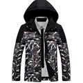 hot sold new men's clothing Winter Men Warm Outwear Windproof Hood Men Jacket new fashion 2016 long sleeves gray