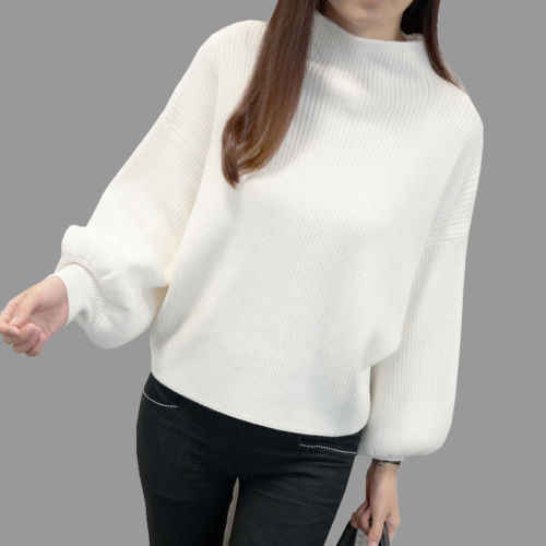 Detail Feedback Questions about Women Ladies Winter Warm Casual Sweater  Turtleneck Batwing Long Sleeve Pullovers Loose Knitted Jumper Tops Sweaters  on ... 96e05a17a