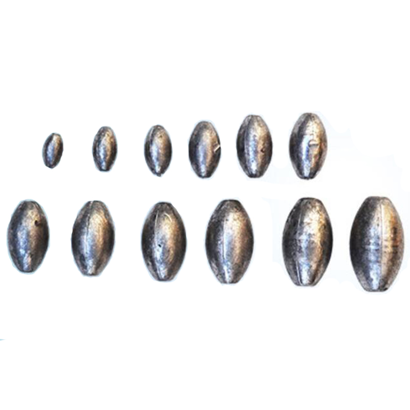 New 5g-150g Weights Fishing Lead Olive Shaped Sinkers Weight Split Shot Saltwater Bass Lure Lead Sinker Fishing Lure Accessories