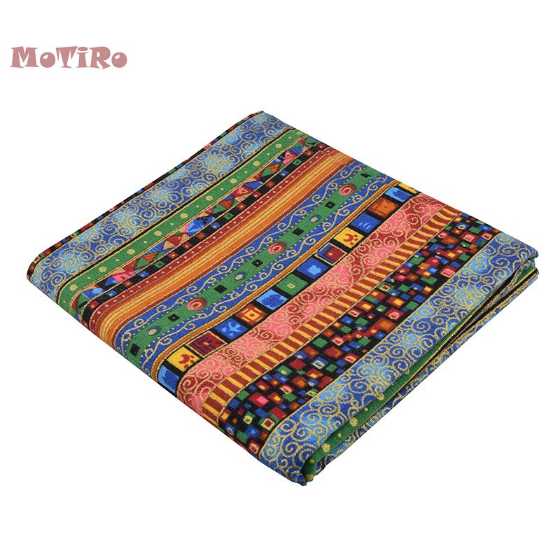 Home & Garden Arts,crafts & Sewing Motiro,half Meter,printed Cotton Linen Fabric,bohemian Series Cloth For Quilting/sewing/sofa/table/curtain/bag/cushion Material