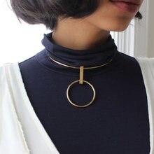 Женское винтажное ожерелье с подвеской xrn38 медное круглое