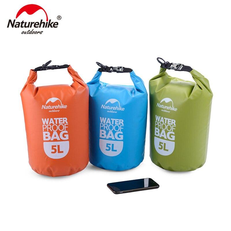 NatureHike 2L 5L Ultralight Outdoor Waterproof Bags  Camping Hiking Dry Organizers Drifting Kayaking Swimming Bags NH15S222-D