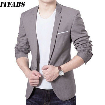 Fashion Stylish Men's Casual Slim Fit Formal One Button Suit Blazer Male Casual Blazer Coat Jacket Tops Size M-3XL