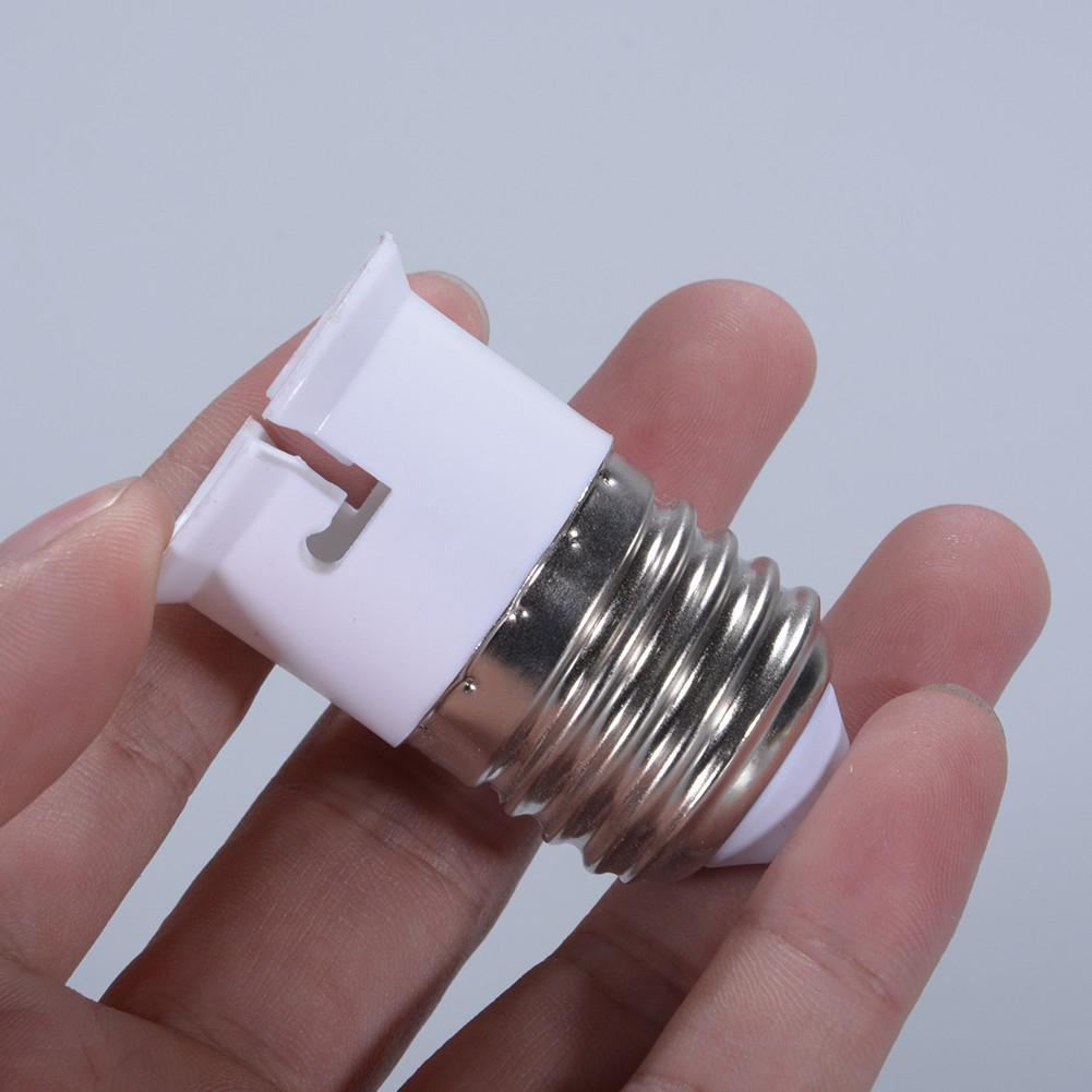 SOLLED E27 To B22 Light Lamp Bulb Fireproof Holder Adapter Converter Socket Base Converter Edison Screw To Bayonet Cap