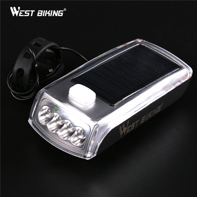 WEST BIKING Solar Energy Cycling Light LED Bicycle Rechargeable Front Head Flashlight Bike Bell Lamps Warning Night Lights туфли nine west nwomaja 2015 1590