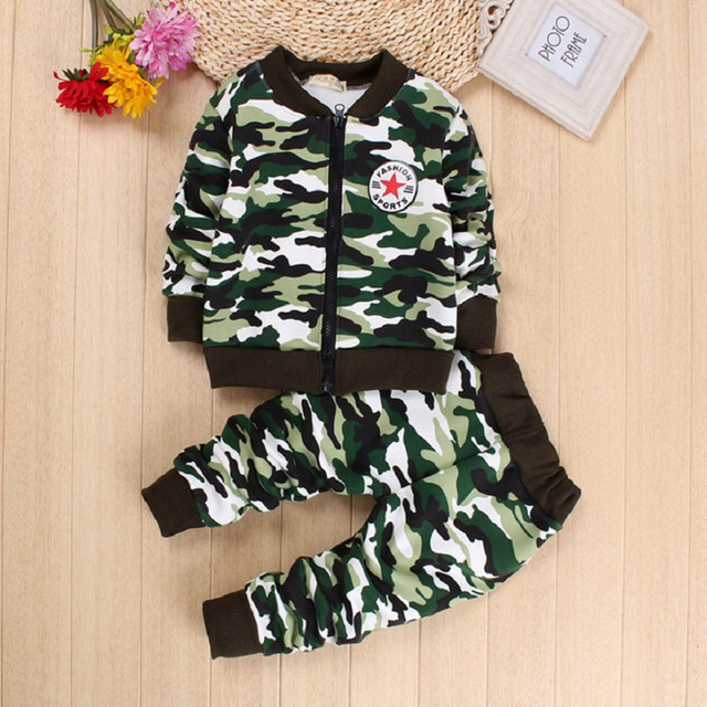332a31702 DIIMUU 2PC Camouflage Kids Baby Boys Girls Clothing Outfit Toddler Infant  Boy Girl Clothes Suits Outfits