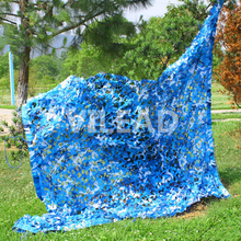 Купить с кэшбэком 1.5M*6M blue camouflage netting decoration military Camo Netting for car covers sun shading tent sun shelter awning camping