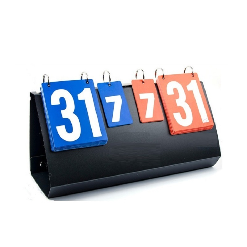 Badminton and Volleyball Scoreboard 4-Digit Sports Competition Score Board Sports Training Scoreboard for Table Tennis Coaches' & Referees' Gear