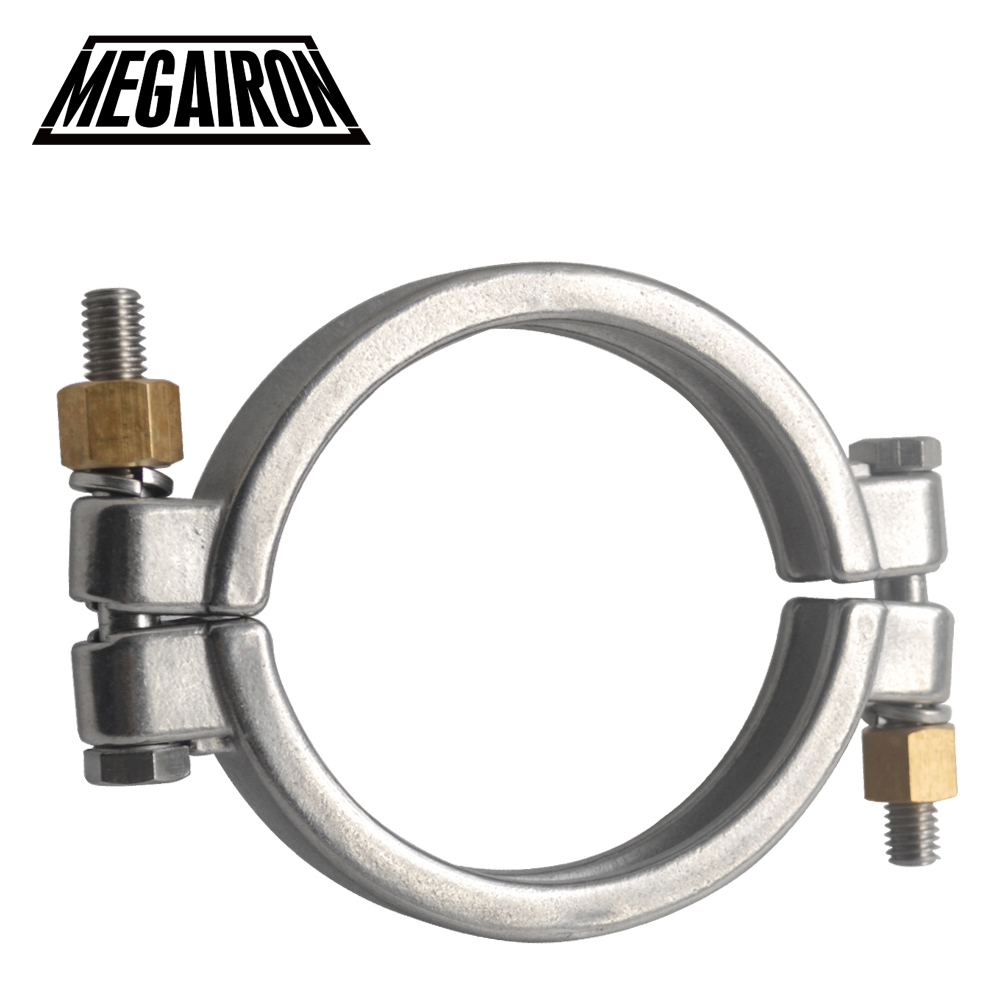MEGAIRON 3.5 High Pressure Tri Clamp Clover SS316 Sanitary Pipe Fittings For 102mm OD Ferrule sanitary female threaded ferrule pipe fittings tri clamp ptfe or silicone gasket stainless steel ss304