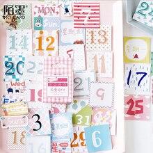 45 Pcs/box Cute color number paper sticker DIY decoration stickers diary photo album scrapbooking planner label