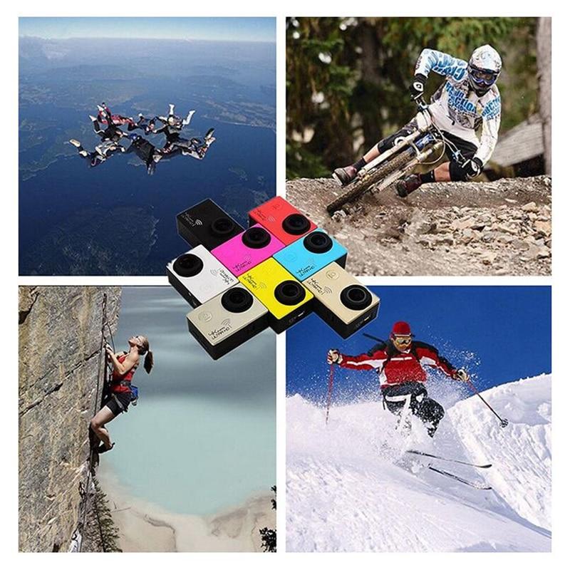 Экшн-камера Sansnail Ultra HD 4K 24fps WiFi NTK96660 2,0 дюймов 16MP 170D Len камера для шлема Водонепроницаемая 30M камера для экстремальных видов спорта
