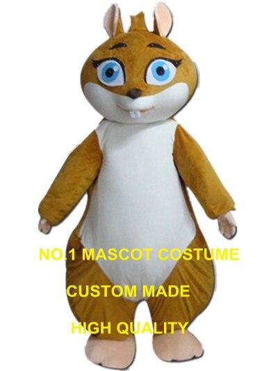 Cartone animato scoiattolo costume della mascotte costume adulto