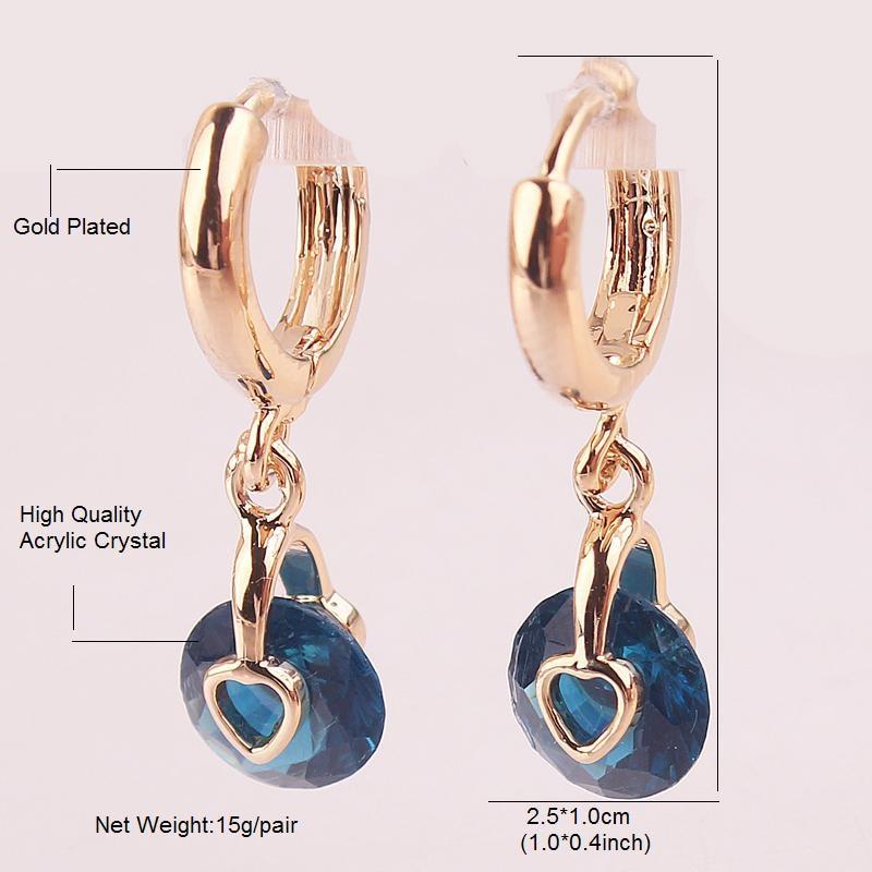 3d791aa5c FANCYDE GIRL Women Drop Earring Jewelry Gold Color Round Heart Yellow White  Zircon Drop Earrings Charm Jewelry Hot sale-in Drop Earrings from Jewelry  ...