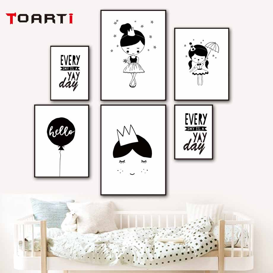 Magnificent Us 3 35 36 Off Cartoon Princess Face Posters Prints Circus Girl Canvas Painting Black White Wall Art Pictures Girls Bedroom Modern Home Decorat In Gmtry Best Dining Table And Chair Ideas Images Gmtryco