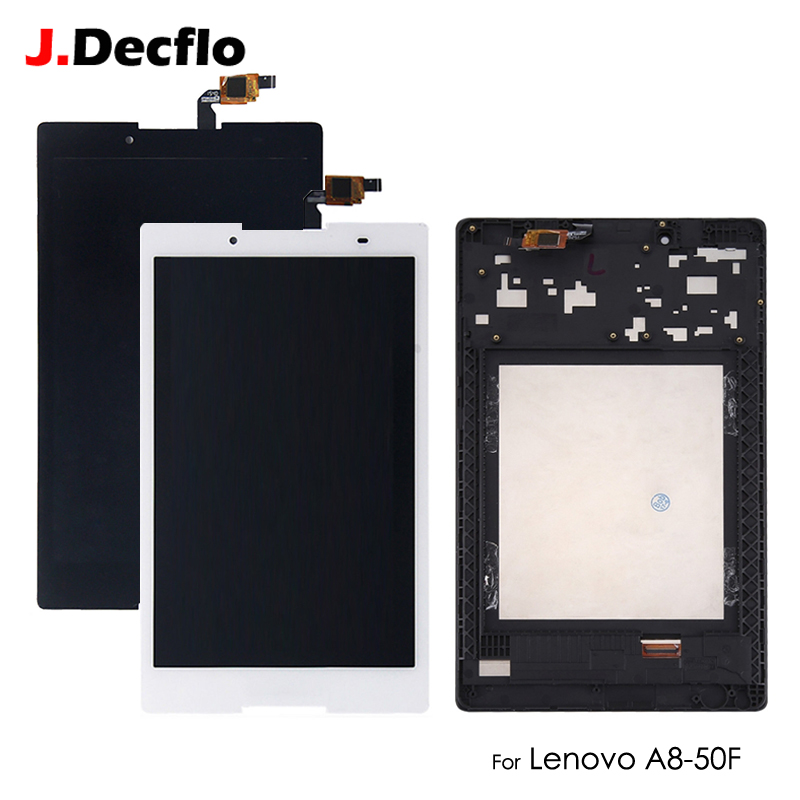 Galleria fotografica LCD Display For Lenovo Tab 2 A8-50 A8-50F A8-50LC Touch Screen Digitizer No Frame Assembly Replacement 8 inch Black White