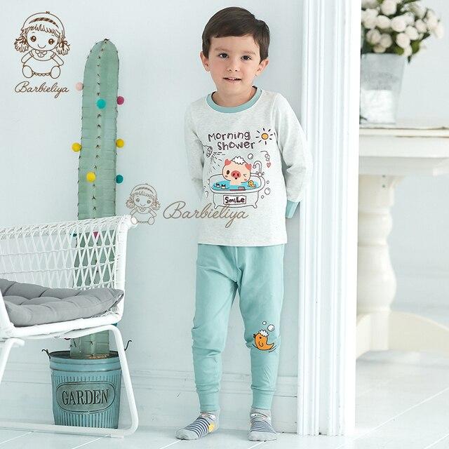 d40fd9b61208 Kids Pajamas Boys Sleepwear Cartoon Animals Pattern Pyjamas Long ...
