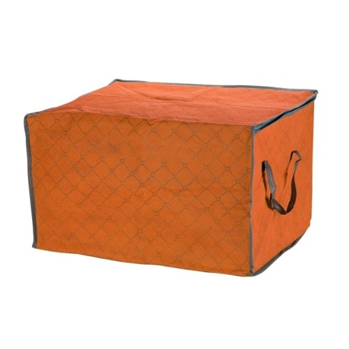 FJS Orange Quilt Blanket Pillow Under Bed Storage Bag Box Container Non-woven Fabric