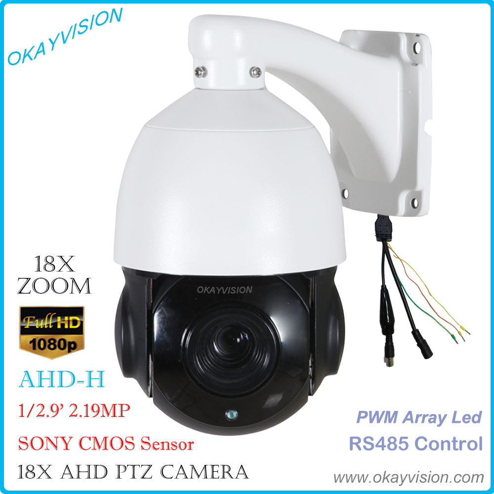 5 inch 2.0MP AHD Medium Speed Dome Camera outdoor & indoor Pan/Tilt Zoom PTZ 18X optical Zoom 1080P AHD ptz camera support RS485 1080p ptz dome camera cvi tvi ahd cvbs 4 in 1 high speed dome ptz camera 2 0 megapixel sony cmos 20x optical zoom waterproof