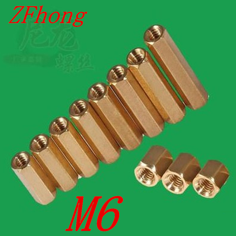 20pcs/lot M6*8/10/12/15/20/25/30/35/40/45/50/60 Female Female Brass hex Standoff Spacer m4 male m 25 30 35 40 45 50 55 60 mm x m4 6mm female brass standoff spacer copper hexagonal stud spacer hollow pillars