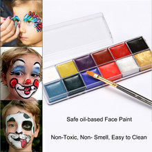12 Colors Body Paint Professional Cosmetics Oil-based Bright Body Painting Pigment Stage Face Color Makeup Halloween Party