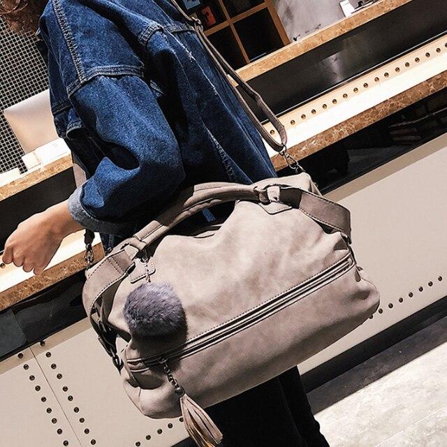 DUSUN Bolsas de Marca Designer de Mulheres de Luxo Saco de Borla Bola de Cabelo Feminino Sacos Do Mensageiro da Mulher 2017 Bolsa Feminina Do Vintage Das Senhoras