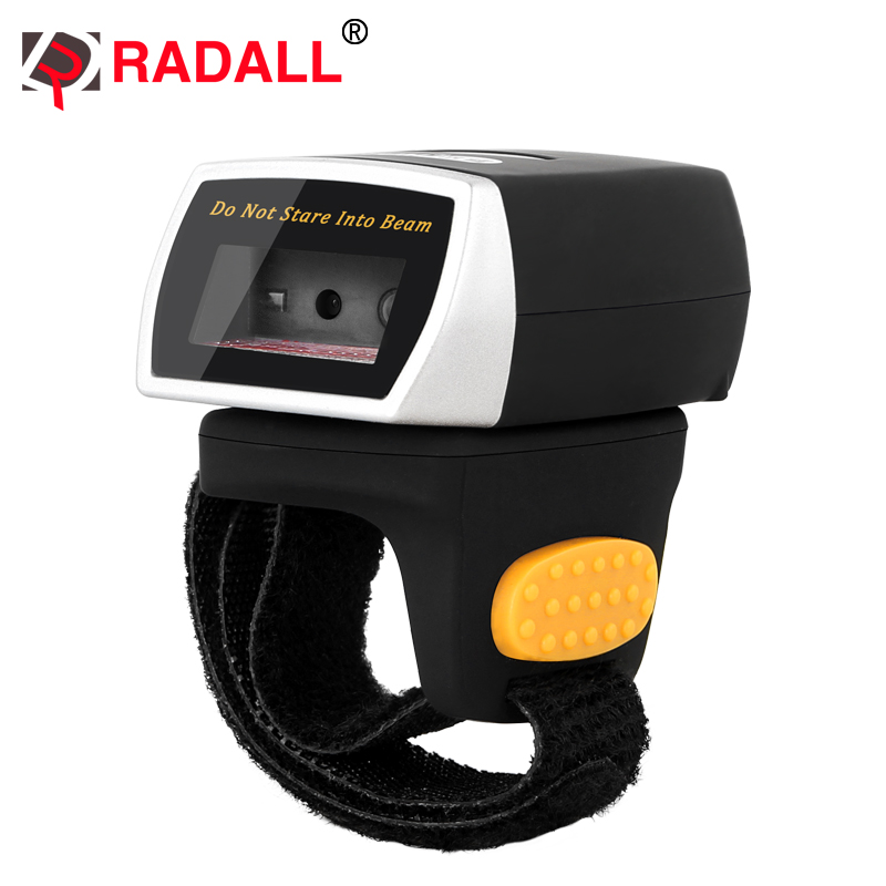 Mini Wearable Bluetooth 2D QR Barcode Scanner Finger Ring QR Code Reader PDF417 codes scaning with memory - RD-R2