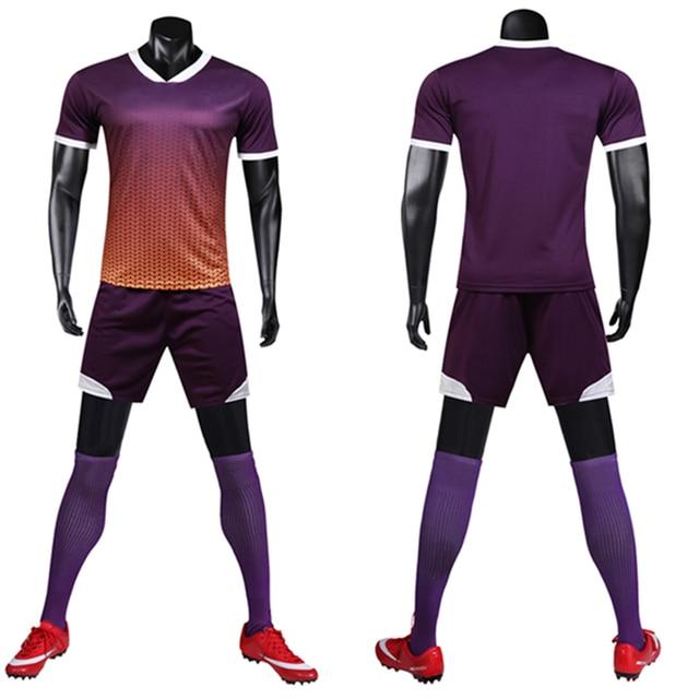 33ae4f9e6e7 Survetement Football 2019 Men Boy Soccer Jerseys Set DIY Blank Adult Soccer  Jerseys Uniforms Suit Print Soccer Training Uniforms
