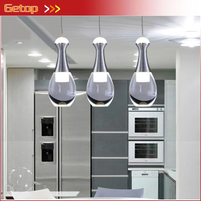 Moderne LED Kristall Pendelleuchte Einfache Acryl High End Restaurant Deckenleuchte Leuchte Bar Wohnzimmer Indoor Flasche Beleuc