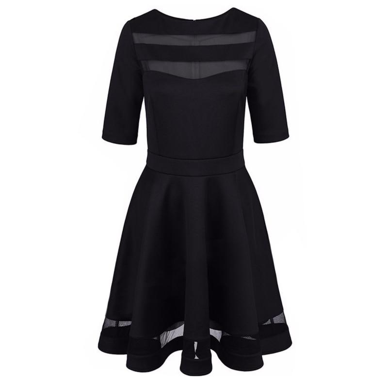 Verband sexy dress 2017 sommer schwarz dress europäischen stil damen knielangen vintage mesh sexy schwarz party kleider vestidos