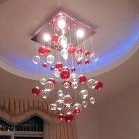Новый современный Романтический прозрачный красный пузырь потолок Освещение LED GU10 лампами светильник заподлицо лампы ld120