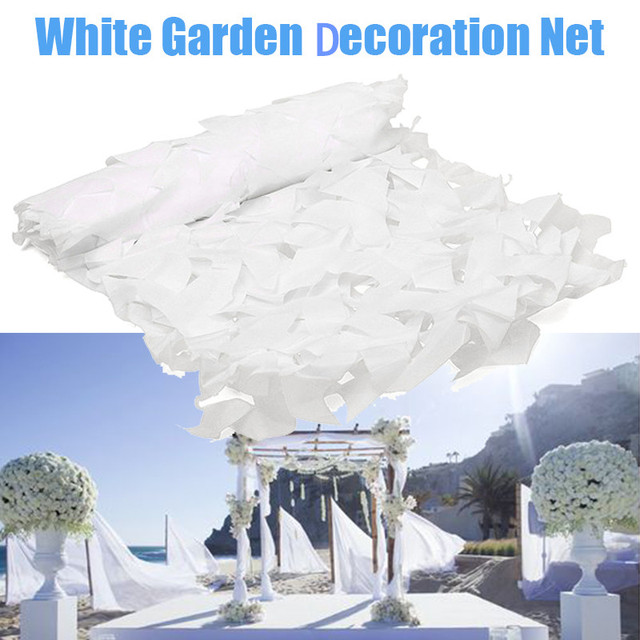 2X3 3X4 2X8M Snow White Camouflage Net Military Outdoor Camping Mesh Netting Garden Wedding Party Decoration Balcony Shelter Net