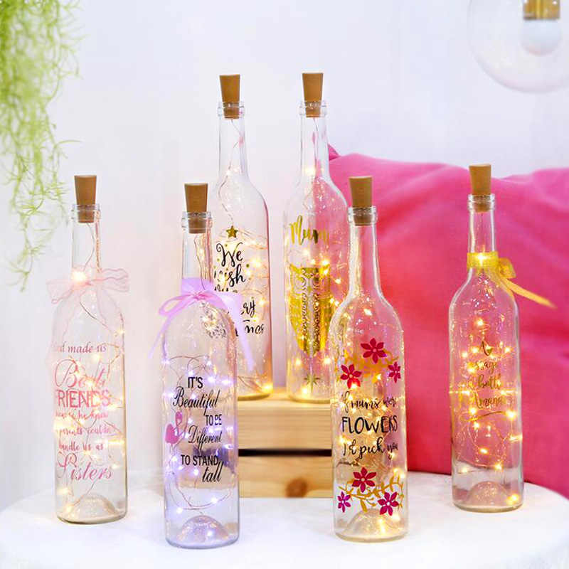 Led Bottle Cork String Light Waterproof 2M 20Leds Copper Starry Lamps LR44 Button Battery Home Bar DIY Fairy Beads Drop Shipping