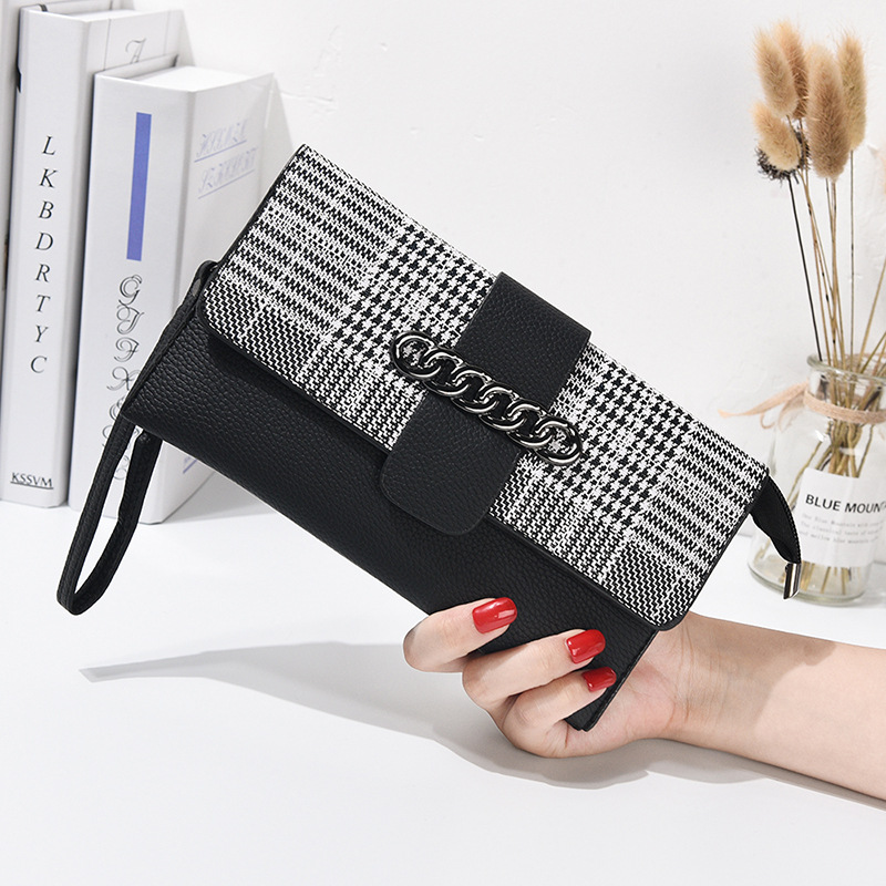 Women Crocodile Leather Clutch Handbag Bag Coin Purse Clutch Female Purse New Fashion 2019 Soild Portefeuille Femme Black Blue Latest Technology Coin Purses