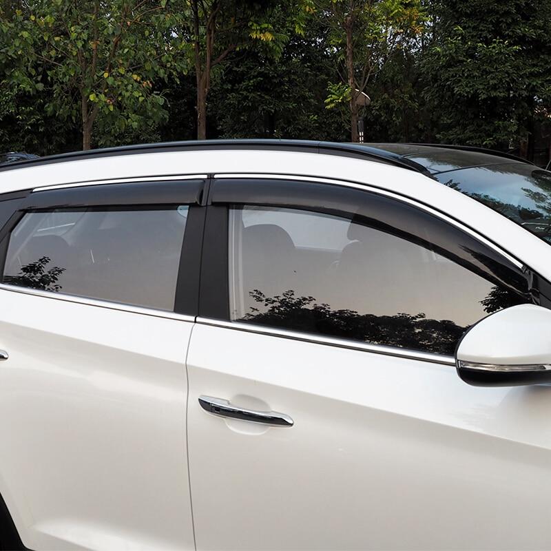 Rain Guards Visor 4pcs Out-Channel Deflector For Lexus ES350 2007-2010 2011 2012