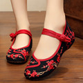 Весна лето новый Старый Пекин обувь, Вышивка Китайская Национальная вышитые холст мягкие синглов женские танцевальная обувь для ходьбы