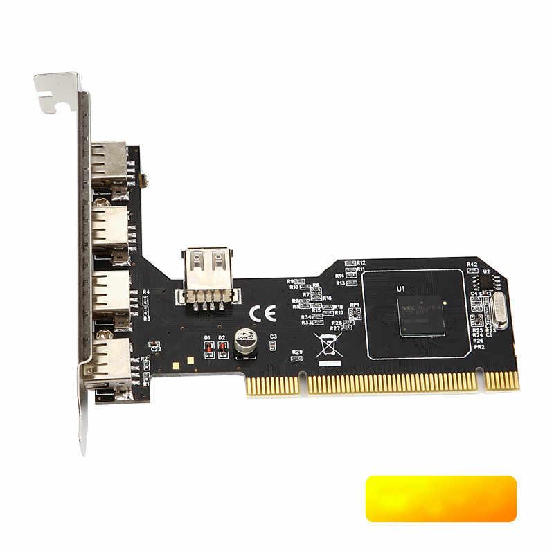 ANDDEAR USB2.0 拡張カードデスクトップ PCI 5 usb2.0 アダプタにカード NEC チップ usb c hdmi vga usb c イーサネット壁プレート