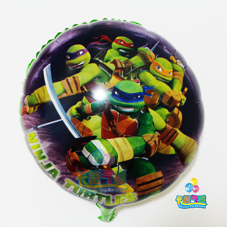 50pcs lot cartoon animal shaped Teenage Mutant Ninja Turtles foil balloons birthday party decoration kids classic