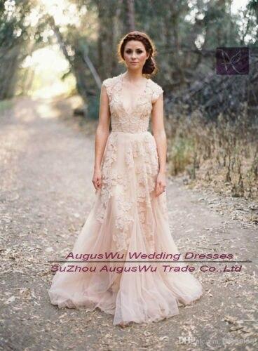 Wwl288 Vintage dentelle robes de mariage Cap manches robes de mariée taille  personnalisée 2 4 6 8 10 12 14 16 18 20 22 24 26 28 dans Robes De Mariée de
