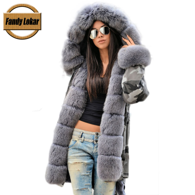 Medium Length Warm Raccoon Fur Collar Coat Women Winter Real Fox Fur Liner Hooded Jacket Women Bomber Parka Female Ladies FP9117 printed long raccoon fur collar coat women winter real rabbit fur liner hooded jacket women bomber parka female ladies fp896