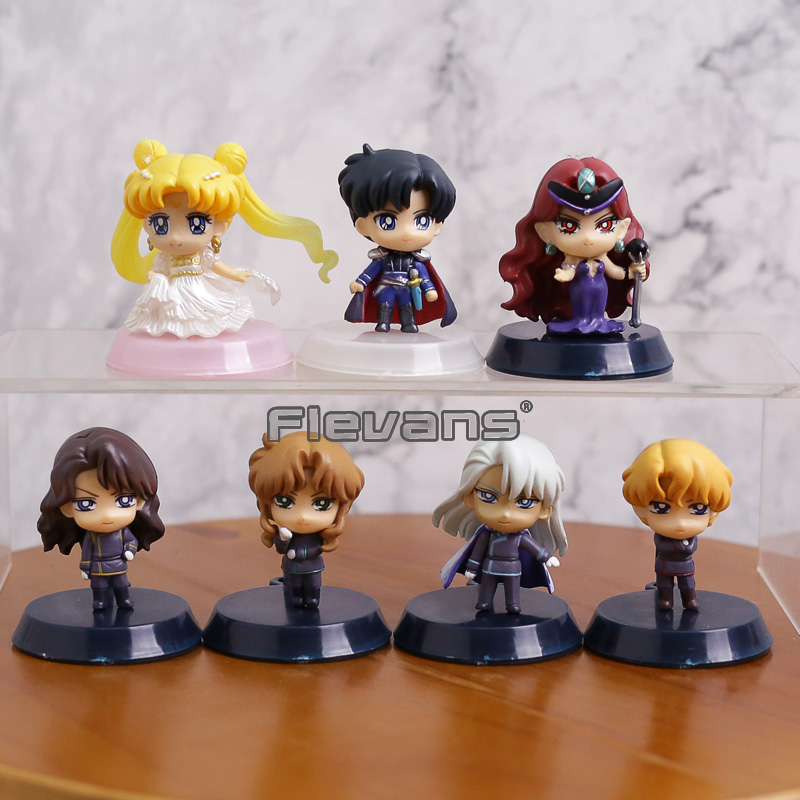 Petit-Chara! Pretty Guardian Sailor Moon 25th Anniversary Dark Kingdom Figures Toys Box Set of 7