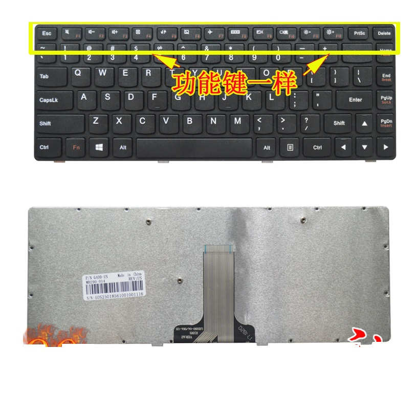 SSEA New Laptop US <font><b>Keyboard</b></font> for <font><b>LENOVO</b></font> G400 G410 G405 G405G G480 G485 Z380 <font><b>Z480</b></font> Z485 G490 image