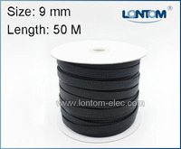 Mini Spool 9 Mm 50M PET Braided Expandable Auto Wire Cable Sleeve High Quality