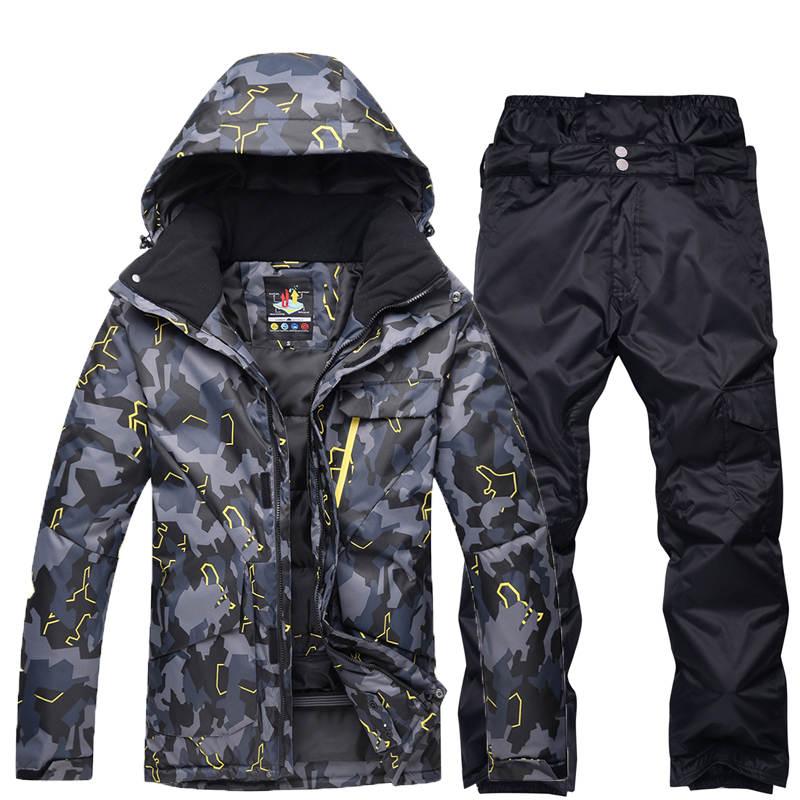 Hommes vêtements de neige ensembles de combinaison de Ski sports de plein air spécialité snowboard imperméable à l'eau respirant vestes de neige et pantalons
