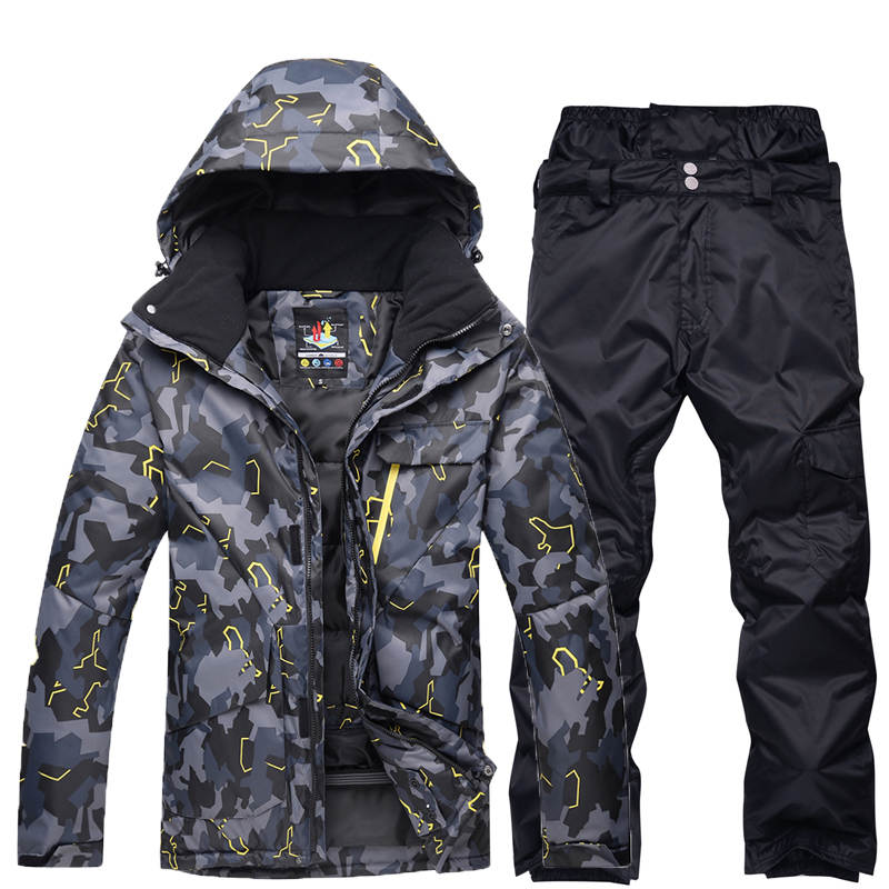 Men's Snow Clothing Ski Suit Sets Outdoor Sports Specialty Snowboarding Wear Waterproof Breathable Ski Jackets And Snow Pants